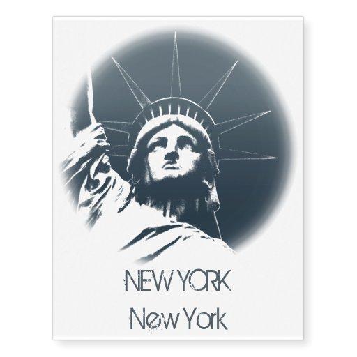 New york temporary tattoo statue of liberty tattoo zazzle for Henna tattoo nyc
