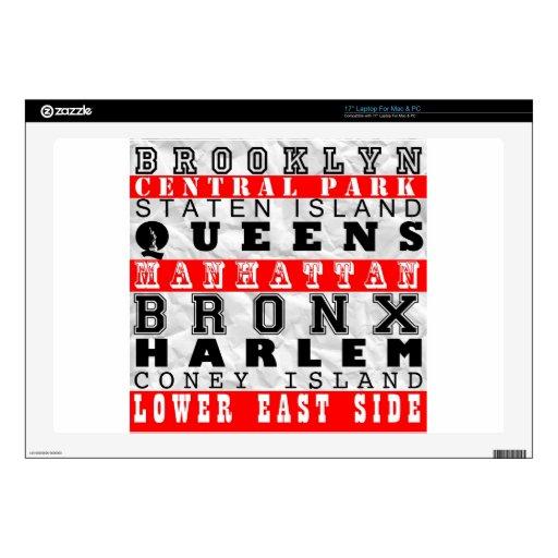new york texte 01.jpg skins for laptops