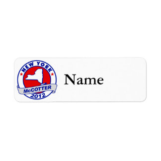 New York Thad McCotter Return Address Labels
