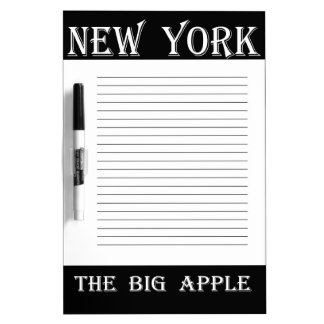 New York The Big Apple Dry-Erase Board