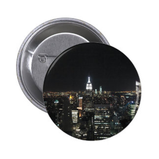 New York The Big Apple Manhattan at Night Gift 2 Inch Round Button