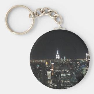 New York The Big Apple Manhattan at Night Gift Keychain