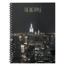 New York The Big Apple Manhattan at Night Note Pad Notebook
