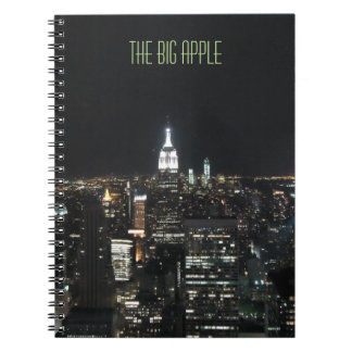 New York The Big Apple Manhattan at Night Note Pad Notebook
