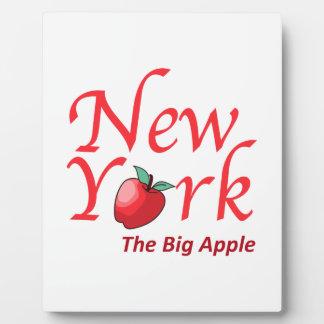 New York The Big Apple Display Plaque