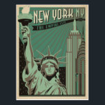 "New York - The Empire City Postcard<br><div class=""desc"">Anderson Design Group is an award-winning illustration and design firm in Nashville,  Tennessee. Founder Joel Anderson directs a team of talented artists to create original poster art that looks like classic vintage advertising prints from the 1920s to the 1960s.</div>"