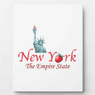 New York The Empire State Display Plaque