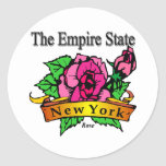 New York The Empire State Round Stickers