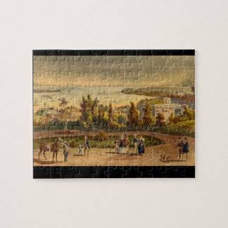 New York - The Narrows and Part_Engravings Jigsaw Puzzle