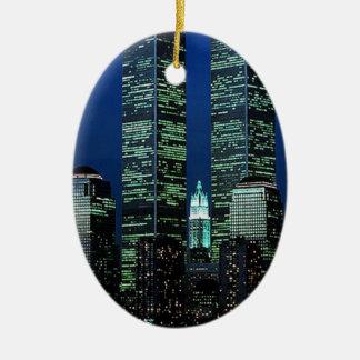 New York The Twin Towers NYC keepsake ornament