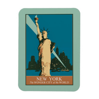 New York The Wonder City of the World Magnet