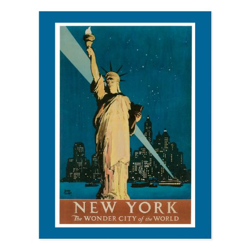 New York:  The Wonder City of the World Postcard
