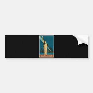 New York The Wonder City of the World Poster Bumper Sticker