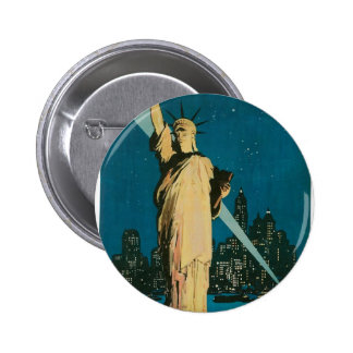 New York: The Wonder City of the World Poster Button