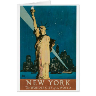 New York: The Wonder City of the World Poster Card