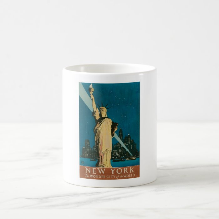 New York: The Wonder City of the World Poster Coffee Mug