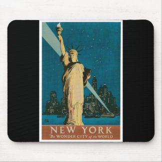 New York: The Wonder City of the World Poster Mouse Pads