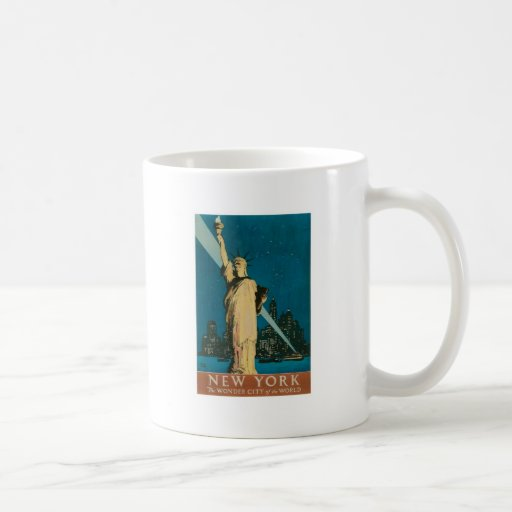 New York: The Wonder City of the World Poster Coffee Mugs