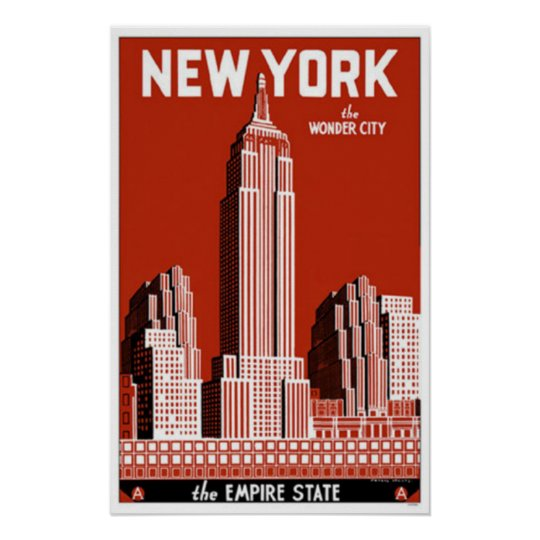 new york the wonder city poster. Black Bedroom Furniture Sets. Home Design Ideas