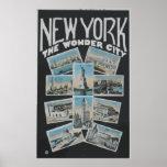 New York The Wonder City, Vintage Poster