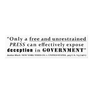 New York Times Co v Estados Unidos 403 nosotros 71 Impresión En Lona