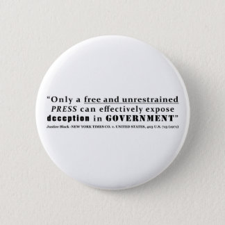 New York Times Co v United States 403 us 713 1971 Pinback Button