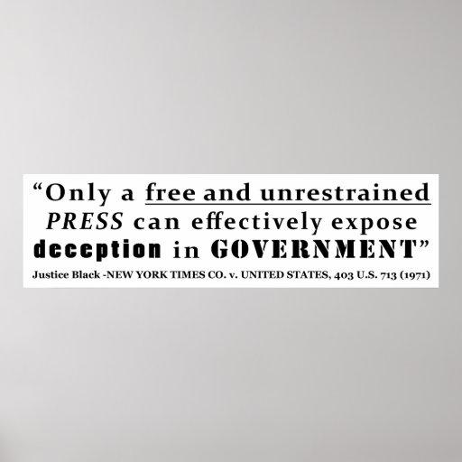 New York Times Co v United States 403 us 713 1971 Poster