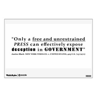 New York Times Co v United States 403 us 713 1971 Wall Decal