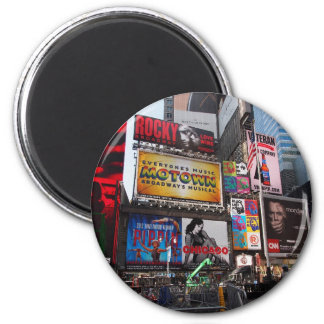 New York Times Square Billboards 2 Inch Round Magnet