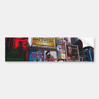 New York Times Square Billboards Car Bumper Sticker