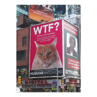 New York Times Square Billboards Card