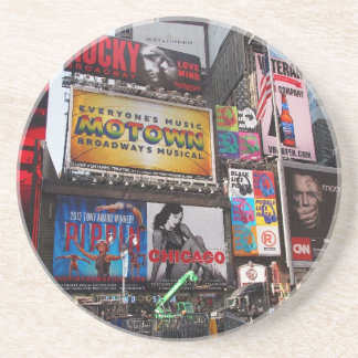 New York Times Square Billboards Drink Coaster