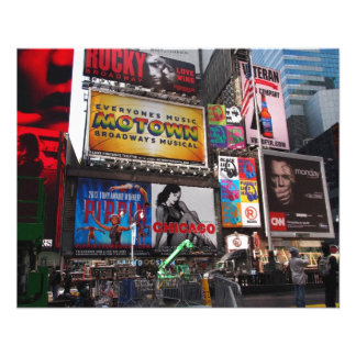 New York Times Square Billboards Flyer
