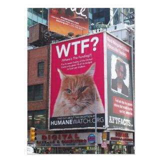 New York Times Square Billboards 5.5x7.5 Paper Invitation Card