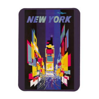 New York Times Square by night abstract Magnet