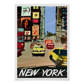 New York Times Square poster art/print