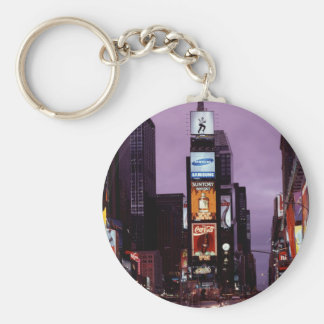 New York Times Square traffic at night Keychains