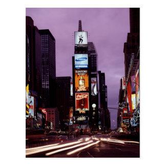 New York Times Square traffic at night Postcard