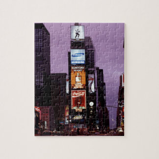 New York Times Square traffic at night Jigsaw Puzzle