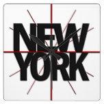 New York Timezone Wall Clock
