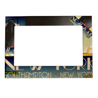 New York To Southampton Magnetic Picture Frame