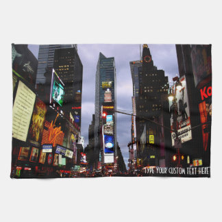 New York Towel Personalized Times Square Tea Towel
