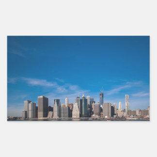 New York town center Rectangular Sticker
