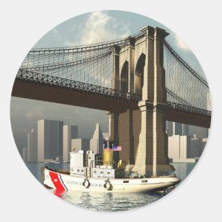 New York town center Round Sticker