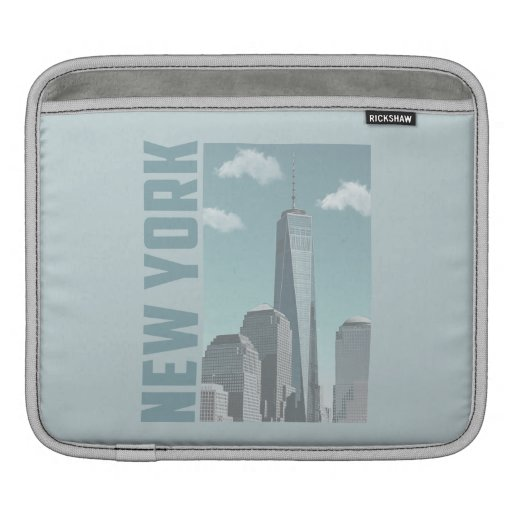 New York Trade Center Modern Photo Art - iPad Sleeve