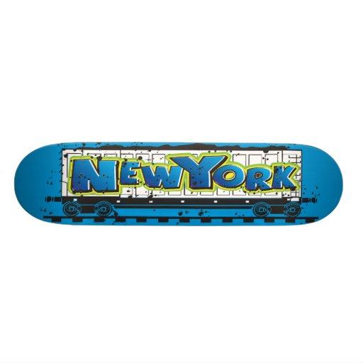 New York Train Graffiti Skateboard Pro