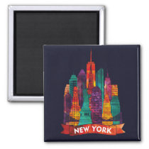 New York - Travel to the famous Landmarks Magnet
