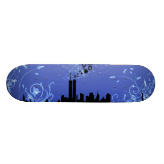 New York / Twin Towers Skateboard Deck