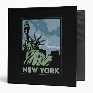 new york united states usa vintage retro travel 3 ring binder