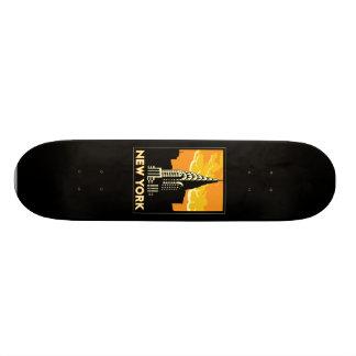 new york united states usa vintage retro travel skateboard